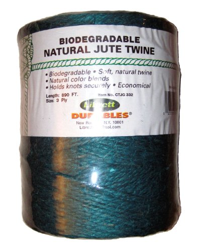 Librett Biodegradable Green Natural Jute Twine, 890 FT - 65oz - 3 Ply - LaPrima Shops ®
