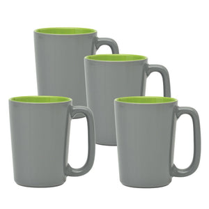 Culver SLAT Mug, 16-Ounce, Grey Lime, Set of 4 - LaPrima Shops ®