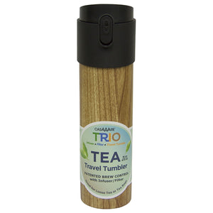 Casaware Trio Tea Infuser - Filter - Travel Tumbler with 2-way Leaf Compartment 16 Ounce - LaPrima Shops ®