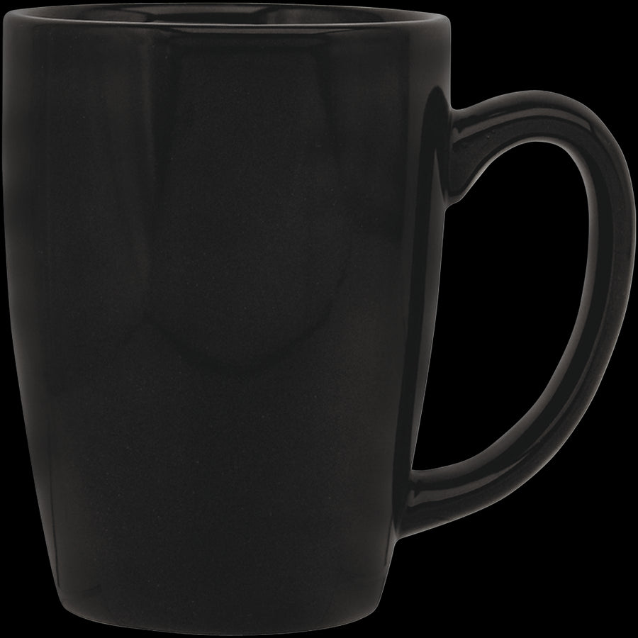 Culver Taza Ceramic Mug 16-Ounce Set of 4 (Black) - LaPrima Shops ®