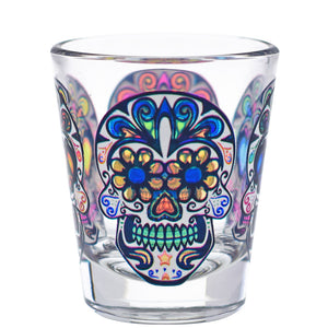 Culver Sugar Skulls Decorated Shot Glasses, 1.75-Ounce, Set of 4 - LaPrima Shops ®
