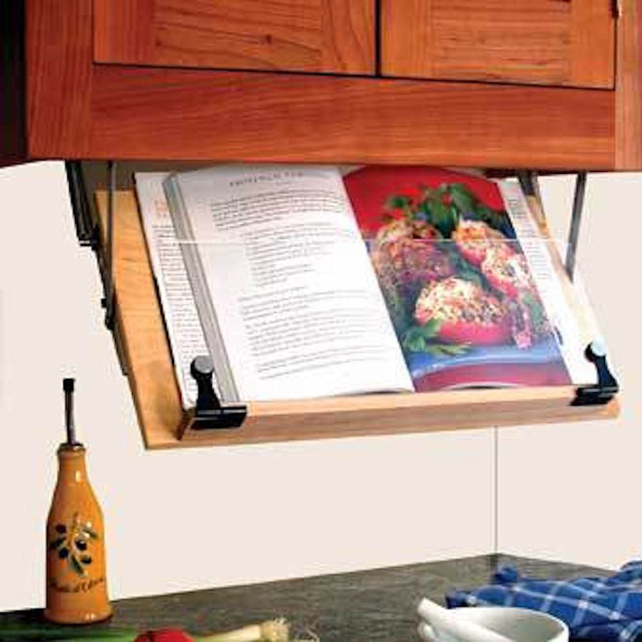 Under Cabinet Mounted Cookbook Holder - Wood - Made in the USA - LaPrima Shops ®