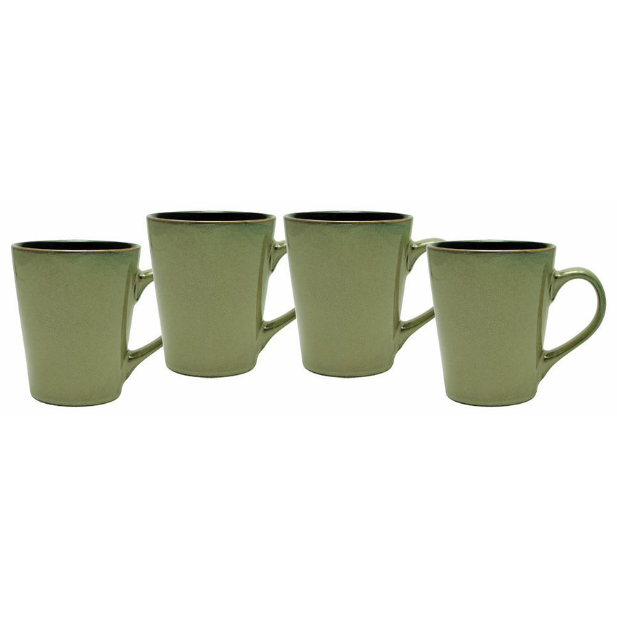 Culver Serenity Cafe Ceramic Mug, 12-Ounce, Granite, Set of 4 - LaPrima Shops ®