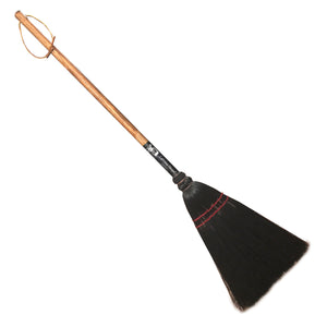 Authentic Hand Made All Broomcorn Broom (34-Inch / Utility BLACK / Oak Handle) - LaPrima Shops ®