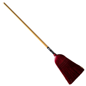 Authentic Hand Made All Broomcorn Broom (Medium RED) - LaPrima Shops ®