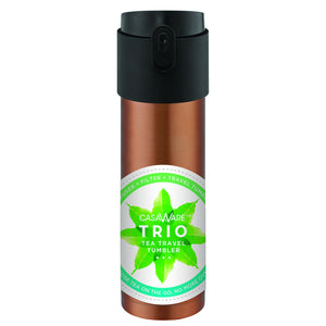 Casaware Trio Tea Infuser - Filter - Travel Tumbler with 2-way Leaf Compartment 16 Ounce (Copper) - LaPrima Shops ®