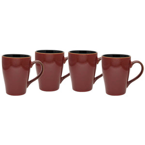 Culver 16-Ounce Sherwood Ceramic Mug, Russet, Set of 4 - LaPrima Shops ®