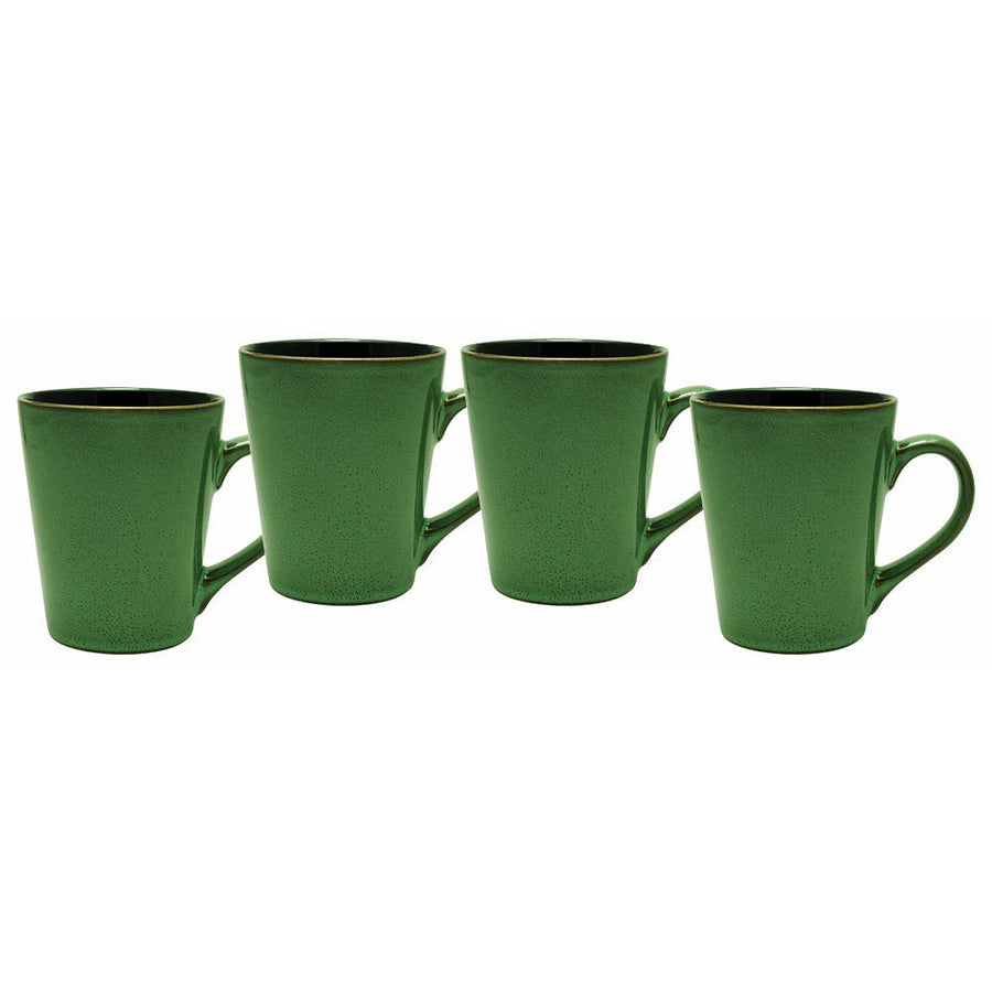 Culver Serenity Cafe Ceramic Mug, 12-Ounce, Willow Green, Set of 4 - LaPrima Shops ®