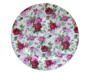 Gracie China Rose Chintz Porcelain Dessert Plates 8-Inch Set of 4 Assorted with Gold Trim - LaPrima Shops ®