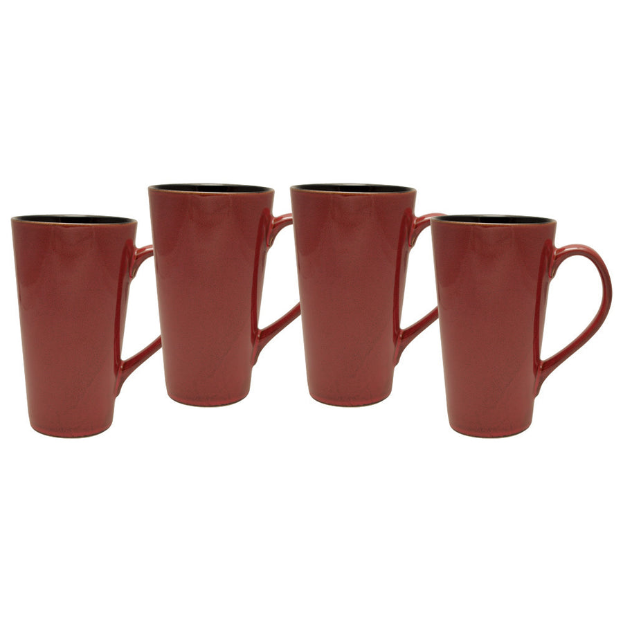 Culver Serenity Cafe Grande Ceramic Mug, 16-Ounce, Russet, Set of 4 - LaPrima Shops ®