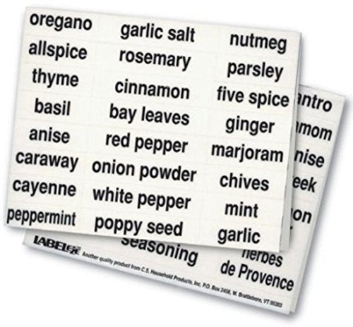 Label-eze Kitchen Spice Labels (Black)