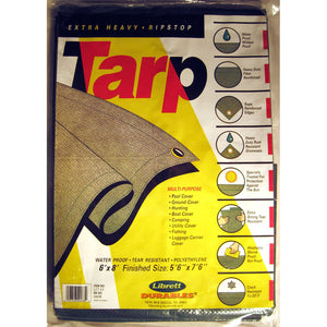 Librett 6' x 8' Green Tarp - Extra Heavy, Multi-Purpose