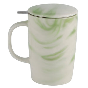 Casaware 16-Ounce Tilt & Drip Marble Tea Infuser Mugs (Forest Green) - LaPrima Shops ®