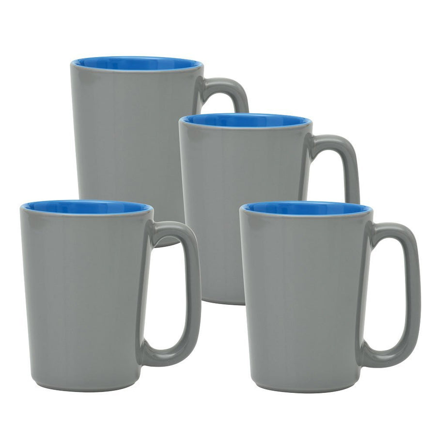 Culver SLAT Mug, 16-Ounce, Grey Ocean Blue, Set of 4 - LaPrima Shops ®