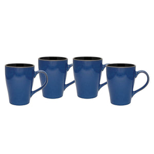Culver 16-Ounce Sherwood Ceramic Mug, Blue, Set of 4 - LaPrima Shops ®
