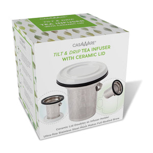 casaWare Tilt and Drip Tea Infuser with Ceramic Lid - LaPrima Shops ®