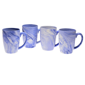 Culver 16-Ounce Palermo Ceramic Mug Set of 4 (Blue Marble) - LaPrima Shops ®