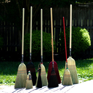 Authentic Hand Made Amish All Broomcorn Broom (Parlor) - LaPrima Shops ®