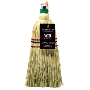 Authentic Hand Made All Broomcorn Broom (12-Inch/Whisk) - LaPrima Shops ®