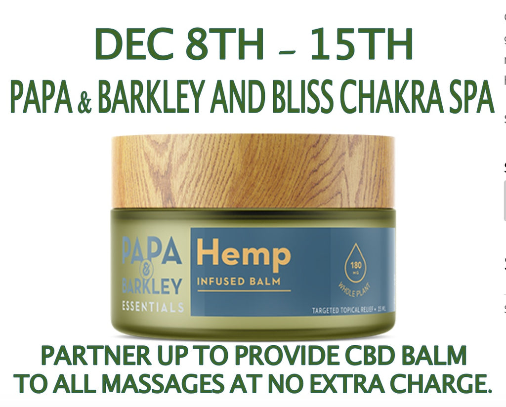 Papa & Barkley Promo Dec 8th-15th!!!!!! CBD Balm