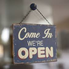 YES WE ARE OPEN!!!!!