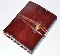 Leather Blank Book W- Cord