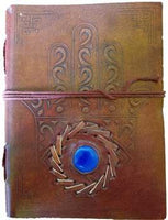 "5"" X 7"" Evil Eye Stone Embossed Leather W- Cord"