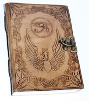 "5"" X 7"" Eye Of Horus Leather W- Latch"