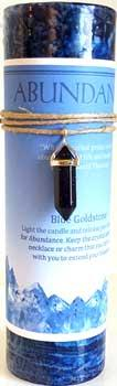 Abundance Pillar Candle With Crystal