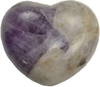 "1 3-4"" Amethyst, Chevron Heart"