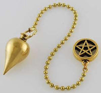 Brass Pendulum With Pentagram - Lady Adrienne's Cauldron - 2