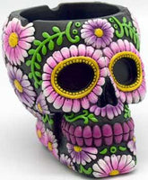 Black- Purple Skull Ashtray