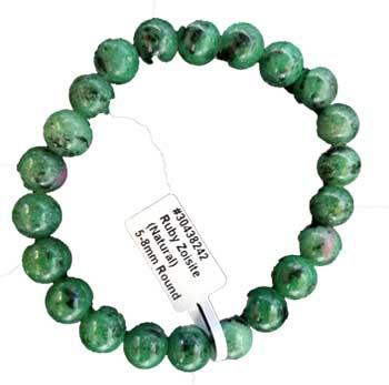 8mm Ruby Zoisite Bracelet
