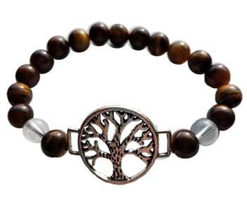 8mm Tiger Eye- Quartz With Tree Of Life