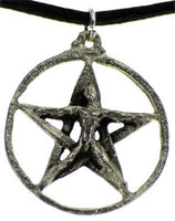 "1"" Pentagram W-crescent Moons - Lady Adrienne's Cauldron - 2"