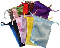 "12 Pk 3"" X 4"" Satin Pouches Mixed Colors"