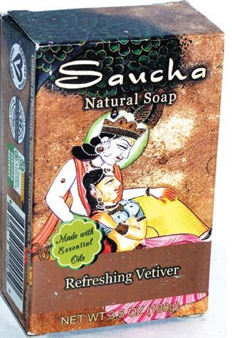 3.5oz Refreshing Vetiver Saucha Soap