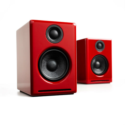 Audioengine A2+ Powered Speakers, Red