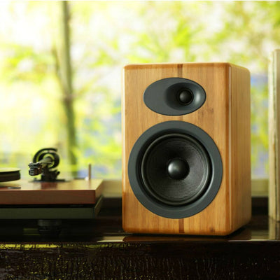 Audioengine A5+ Powered Bookshelf Speakers (Bamboo) - Premium Sound Canada