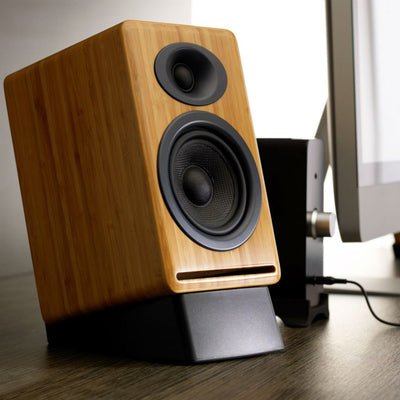 Audioengine P4 Passive Bookshelf Speaker (Bamboo) - Premium Sound Canada