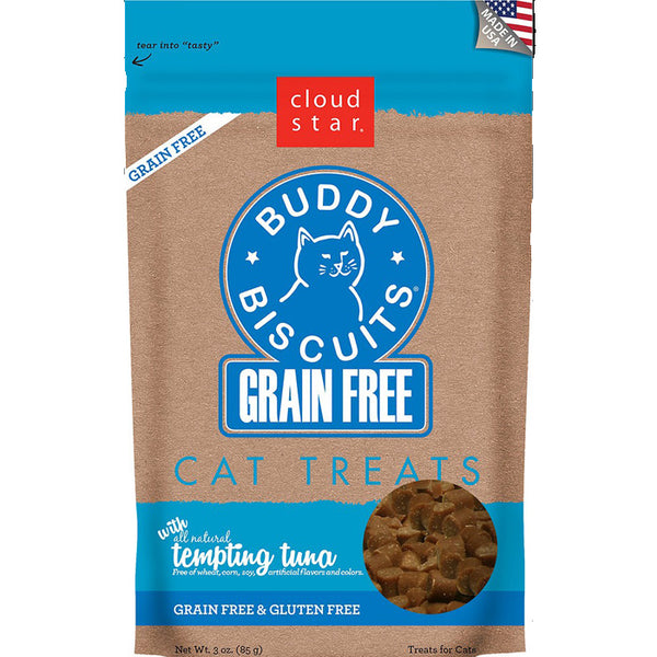 Buddy Biscuits Cat Treats - Grain Free Tuna  or Chicken