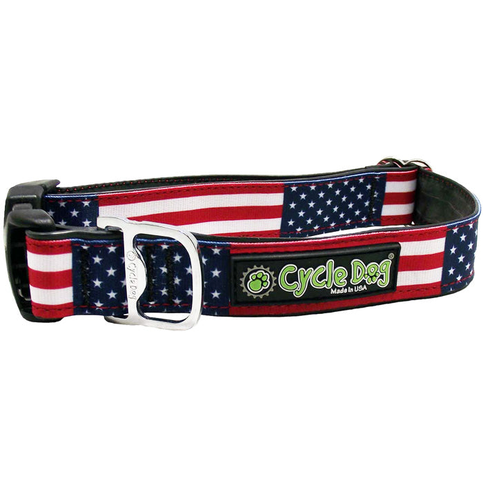 Stars & Stripes Waterproof<br>Dog Collar & Leash