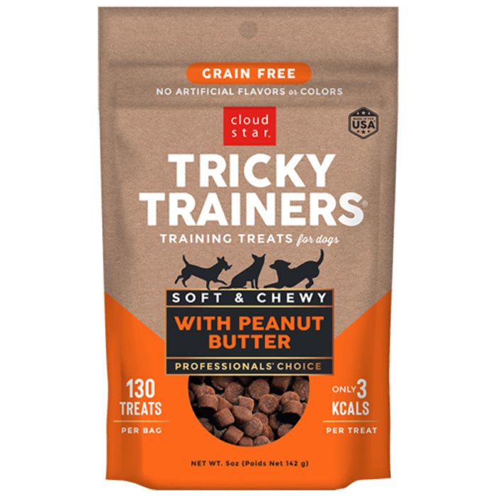 Tricky Trainers Grain Free Soft & Chewy Treats<br>Peanut Butter