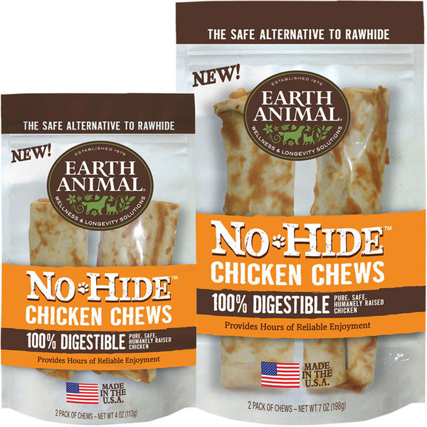 Earth Animal No Hide Dog Chews 2 packs<br>the safe alternative to rawhides