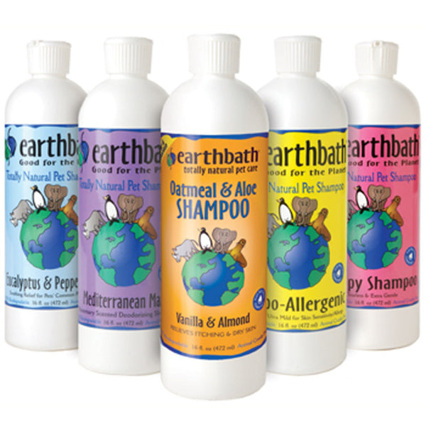 Earthbath All Natural Shampoos<br>9 varieties for dogs & cats