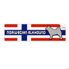 Norwegian Elkhound Bumper Stickers - 3 Styles