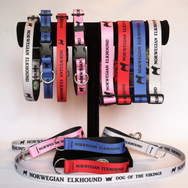 Norwegian Elkhound Collars, <br>Leashes & Key Ring <br><i>Fundraiser for JNMRF Elkhound Rescue</i>
