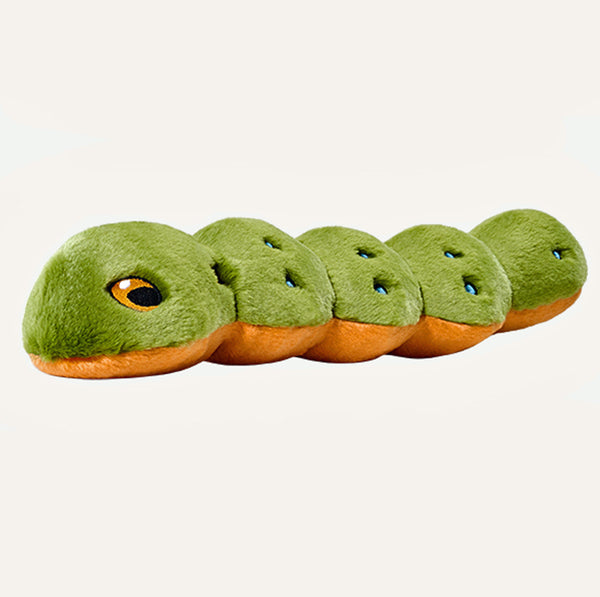 Katie the Caterpiller Plush Dog Toy