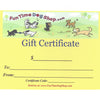 Fun Time Dog Shop<br>Gift Certificate