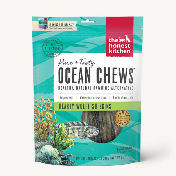 Ocean Chews - Hearty Wolffish Skins  (Beams)